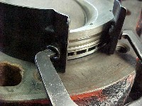 pliers type ring compressor close up