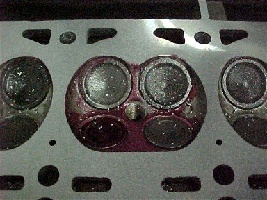 Abrasive disc ruined cylinder head